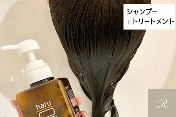 haruシャンプー トリートメントをした後の髪
