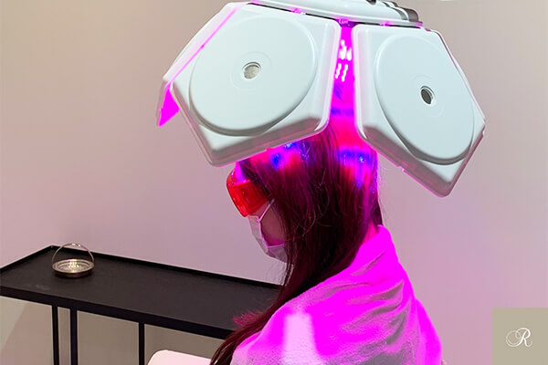 頭皮マッサージに育毛施術を組み合わせた例2