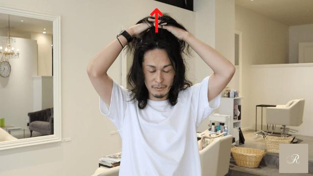 ハチの頭皮マッサージaパターン手順7