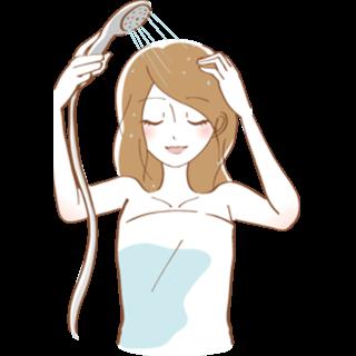 シャワーを浴びる女性イラストイメージ画像